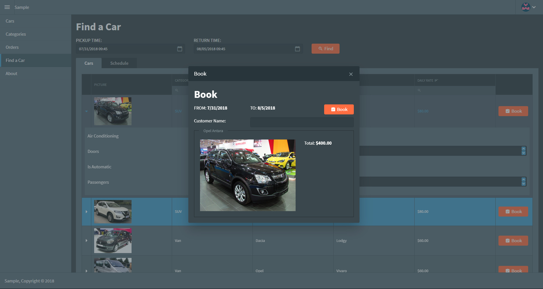 Radzen July, 2018 Updates - New application themes and page