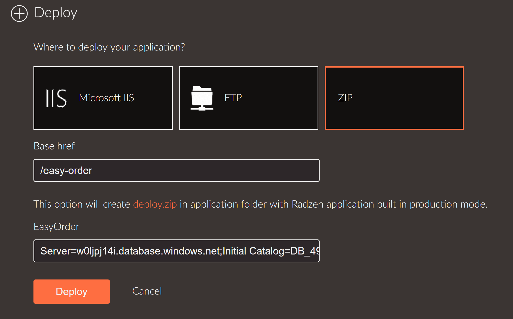 Deploy ZIP to IIS - how to (in detail)? - Help - Radzen