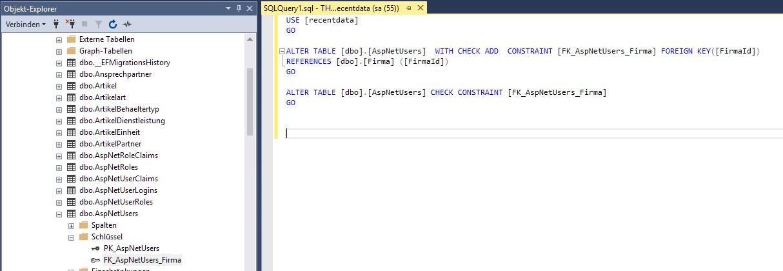 Extending ApplicationUser with a foreign key - Help - Radzen